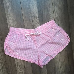 Victoria's Secret Pink Plaid Sleep Shorts